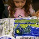 Landscape, tempera paint