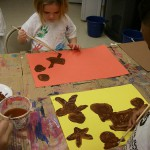 Gingerbread cookies, tempera