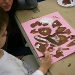 Gingerbread cookies, tempera
