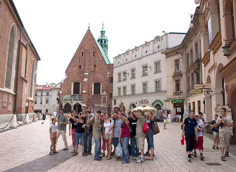 "On their way to ""Maly Rynek"" (Small Market), Krakow"