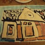 House Design, tempera