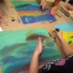 Landscape, dry pastel