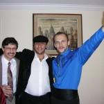 (from left), Jerzy Lesniak, Mata e Grifone singer, Janusz Zielinski
