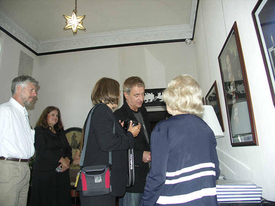 Rafal Olbinski with guests