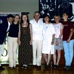 Evening organizers/volunteers (from left): J. Lesniak, E. Natkaniec, A. Andrejczuk, D. Andrejczuk, K. Lesniak, M. DeCoursey, L. Babiarz, B. Rojecka-Abid.