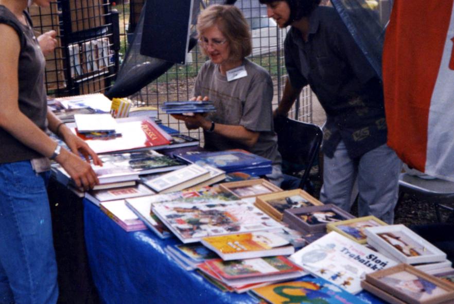 We had many booksfor sale