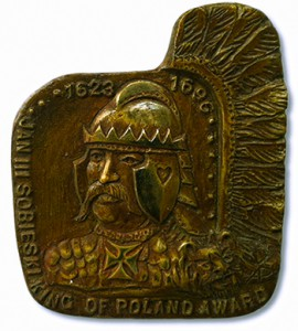 Bronze medal created by sculptor Andrew Pitynski