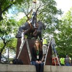 Central Park Jagiello monument project site. 9/16/2016. Marie R. Warsh, Director of Preservation Planning, Central Park Conservancy