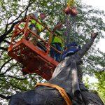 Central Park Jagiello monument project site. 9/16/2016