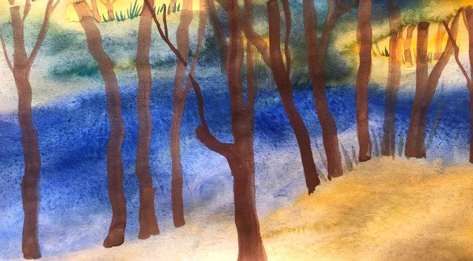 Painting Trees in Tibbetts Brook Park – Free Zoom Art Workshop