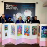 Judges presenting drawings and prints (oil and dry pastels)